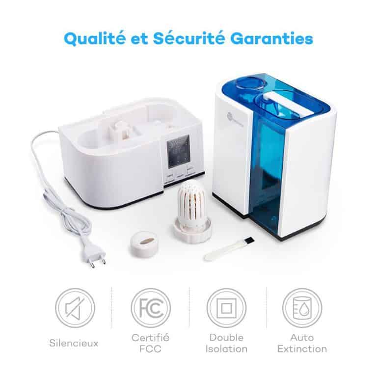 comparatif meilleur humidificateur d'air