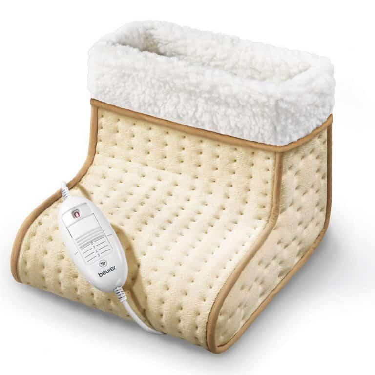 Chauffe-pieds Chauffant Electrique avec 2 R/églages de Chaleur et 2 R/églages de Massage 2 en 1 Botte de Massage Chauffante