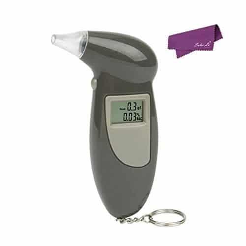 SalesLa Noir LCD numérique alcool test Analyseur Breath Testeur Détecteur Alcootest