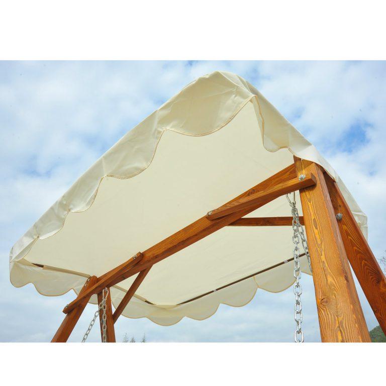 Balancelle balancoire hamac banc fauteuil de jardin bois de pin 2 places
