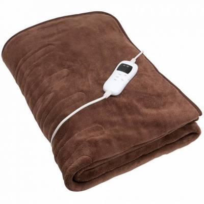 Couverture chauffante 180 x 130 cm - 9 niveaux de température chaleur lit confort doux polaire