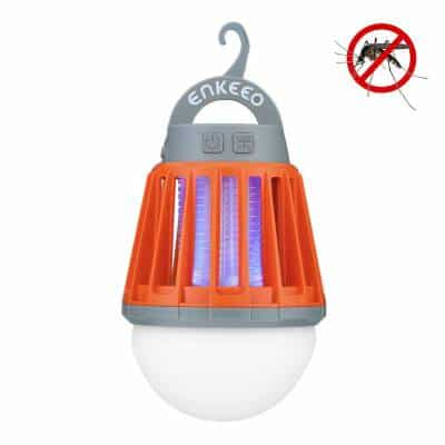 Enkeeo Lampe de Camping Anti Moustiques Lanterne Camping Anti Moucheron Etanche avec 2000mAh Batterie Rechargeable
