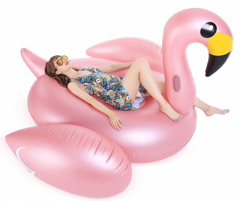 bouee geante flamant rose