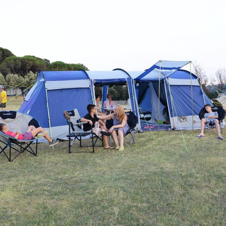 SKANDIKA Tente Montana II 700 x 280 cm Bleu