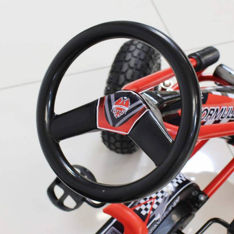 Motor Racing Style Kids Childrens Pedal Go Kart On Rubber Wheels by Beauty4Less 2