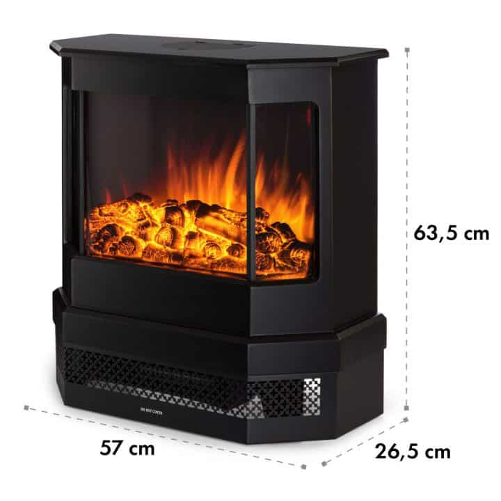 Klarstein Castillo cheminée électrique poêle