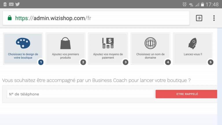 Wizishop interface