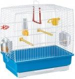 Ferplast Cage Rectangulaire pour Petits Oiseaux Exotiques et Canaris Rekord 2 Petite Cage pour Oiseaux