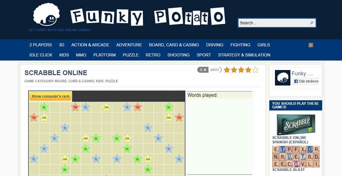 Funky Potato Scrabble