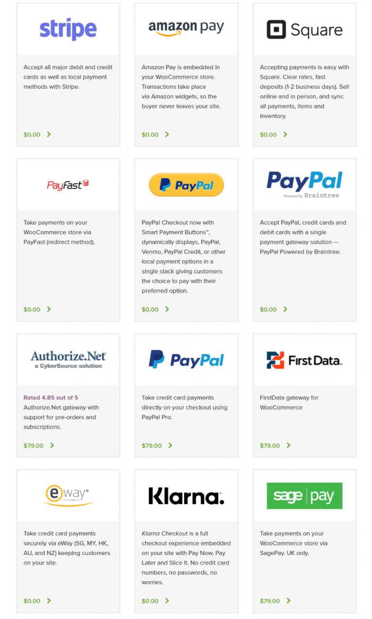 WooCommerce - Moyens de paiement
